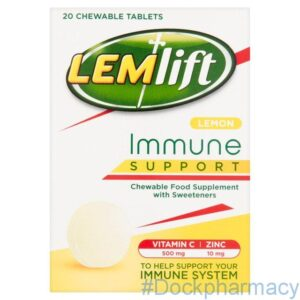 Lemlift Immune Support Lemon Chewable Tablets
