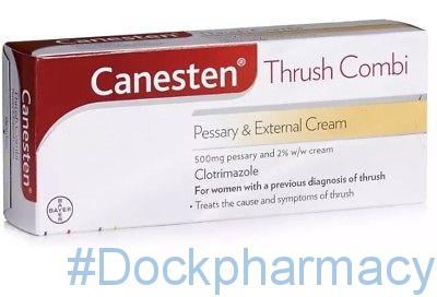 Canesten Thrush Combi Pessary and External Cream, Complete Thrush Treatment