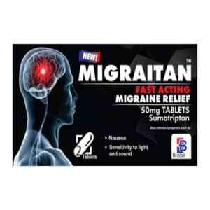 Migraitan 50mg Tablet, 2 Tablets
