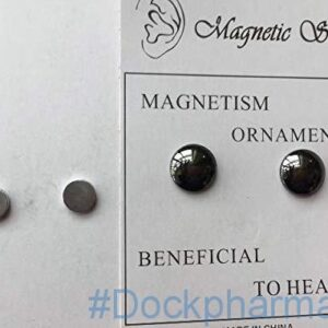 Weight Loss Earrings Sterling Silver Studs,Healthy Magnetic Stimulating Acupoints Earrings