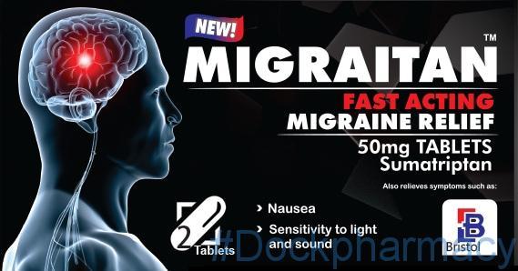 Migraitan sumatriptan 50mg tablets