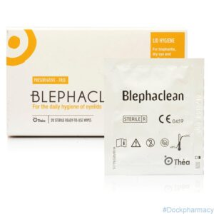 Blephaclean eyelid hygiene wipes for blepharitis