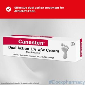 canesten dual action athlete foot cream