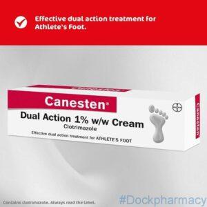 canesten dual action athlete foot cream