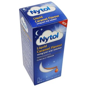 Nytol Liquid Caramel Flavour 10mg/5ml oral solution