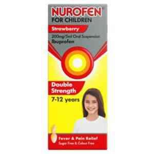 Nurofen For Children 7-12 Years Strawberry, 100ml