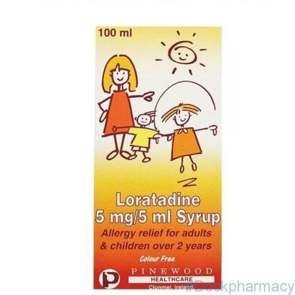 Loratadine hayfever relief syrup