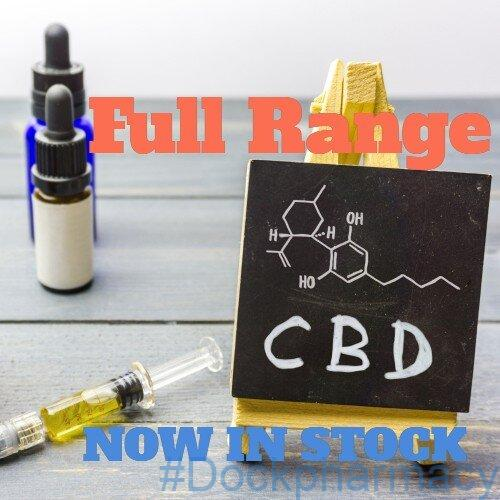 CBD products oil and capsules in stock