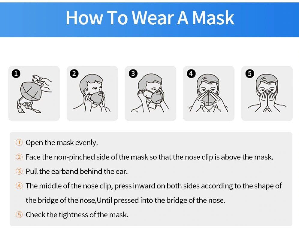 how to wear KN95 face mask