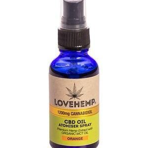 love hemp cbd oil spray 1200mg 30ml