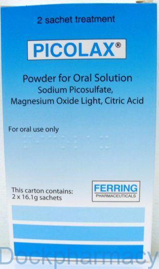 Picolax powder sacets for bowel preparation