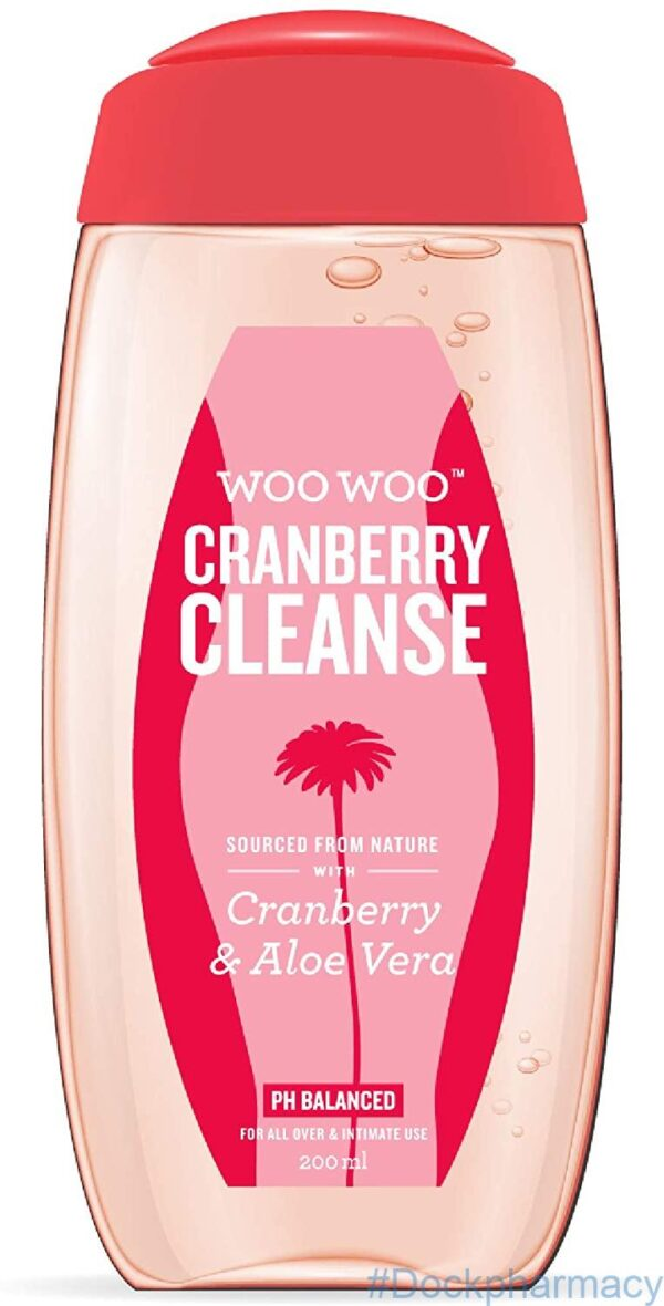 WooWoo Cranberry Cleanse! Gentle Intimate Wash 200ml