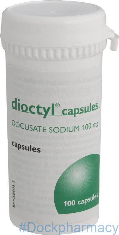 dioctyl 100mg capsules 100 capsules