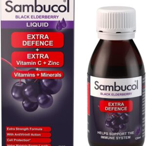 Sambucol Natural Black Elderberry Extra Defence
