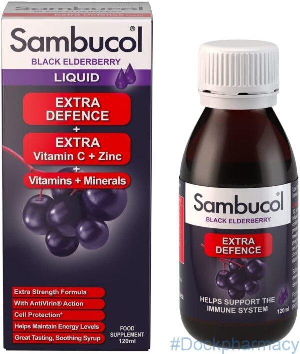 Sambucol Natural Black Elderberry Extra Defence