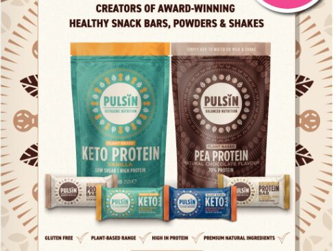 Pulsin keto and pea protein low card powder
