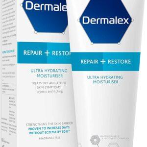 Dermalex Repair + Restore – Ultra Hydrating Moisturiser Cream for Dry Skin – 100 g
