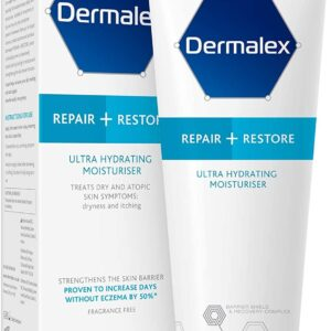 Dermalex Repair + Restore – Ultra Hydrating Moisturiser Cream for Dry Skin – 100 g