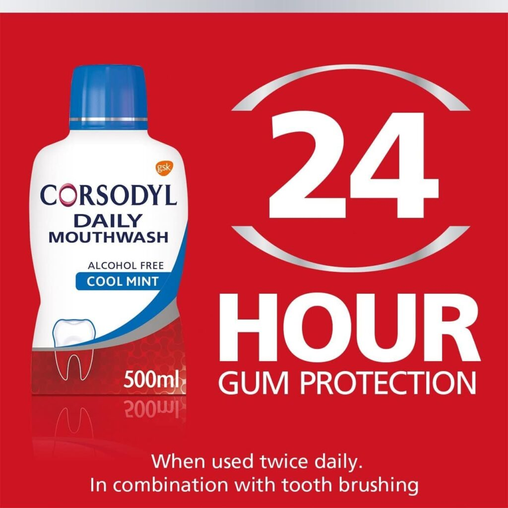 corsodyl daily mouthwash for 24 hour protection