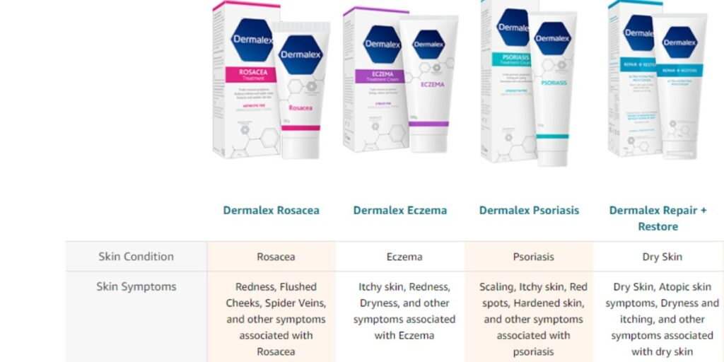 Dermalex Skin care range