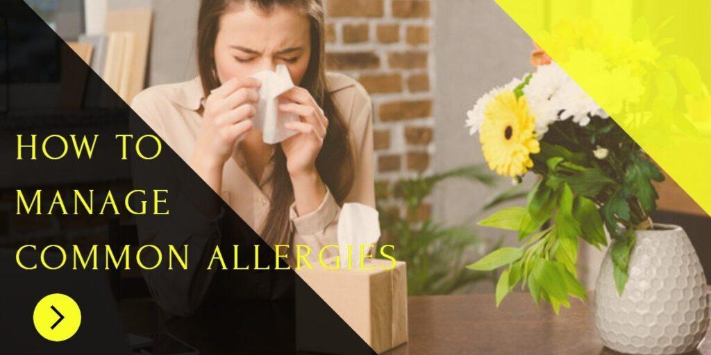 how to treat common allaergies
