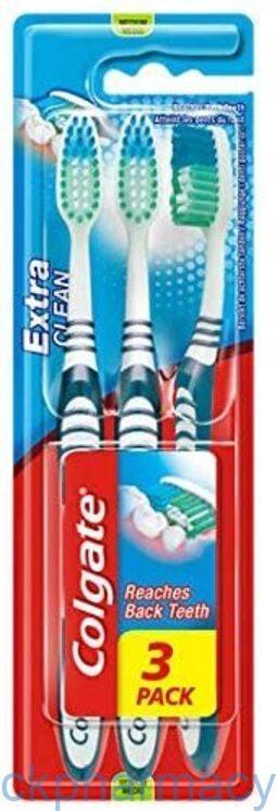 Colgate Extra Clean Toothbrush Medium 3 pack