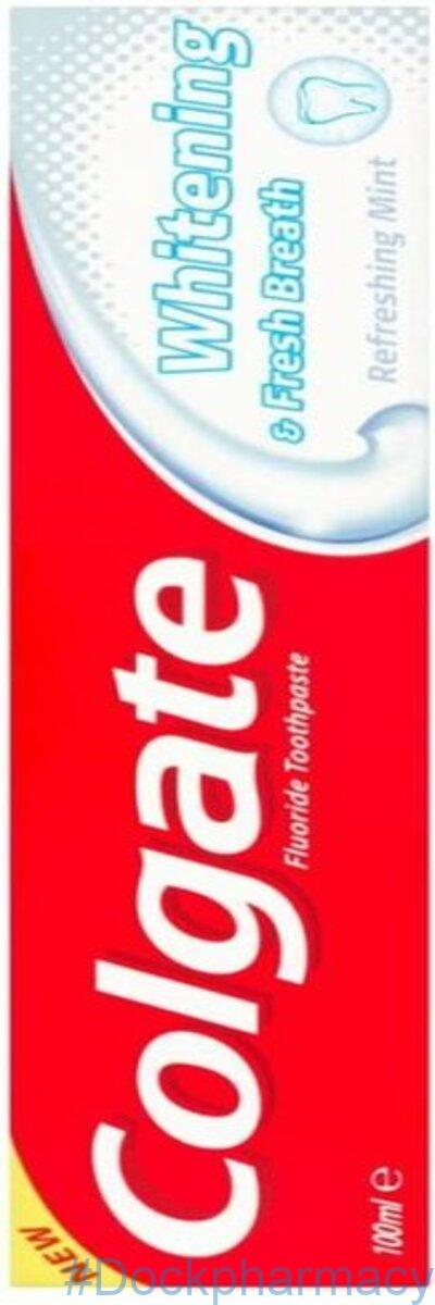 Colgate Whitening & Fresh Breath Fluoride Toothpaste 100ml