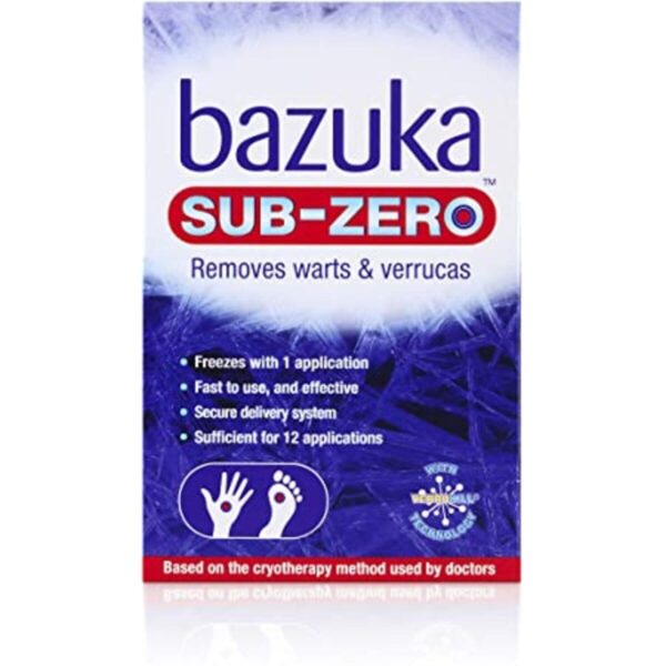 Bazuka Sub Zero Freeze For Removal Of Warts And Verrucas