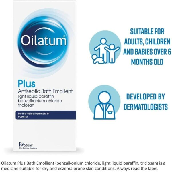 Oilatum Plus Antiseptic Bath Emollient For Eczema Treatment