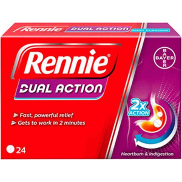 Rennie Dual Action Heartburn And Indigestion Tablets