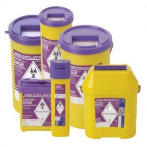 SharpSafe Sharps Disposable Bin Purple Sharps Bin