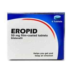 Eropid Sildenafil 50mg Tablets, 4 Tablets